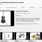 Cuadros de instrumentos musicales en Realidad Aumentada