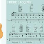 "Ukelele. Play Along ""Freere Jacques"" (melodía + acordes). Por @javiamados"