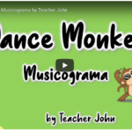 "Musicograma ""Dance Monkey"" por @elteacherjohn"