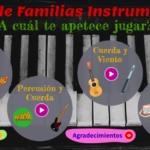 """Genially. Cuatro juegos """"Dobble"""" sobre las familias de instrumentos. Por @javiamados"""