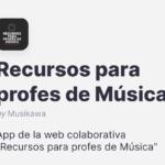 """Tenemos app de """"Recursos para profes de música"""" by @caotico27"""