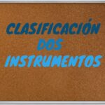 Clasificación de los instrumentos por @mca.primaria.mond