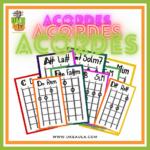 Diagramas de acordes básicos para ukelele para descargar por @ukeaula