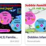 """2 Genially con 4 juegos """"Dobble"""" para Infantil sobre las familias de instrumentos. Por @javiamados"""